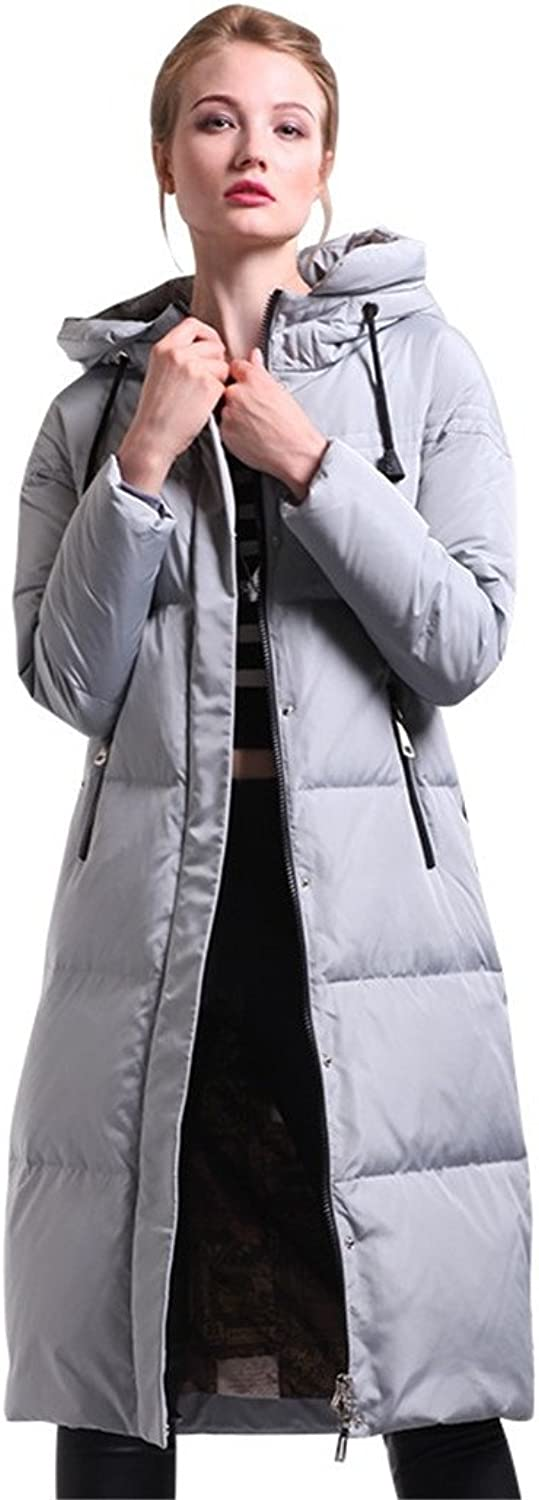 Women Down Coat Jacket Long Warm Woman Down Parka Winter Coat With Hood