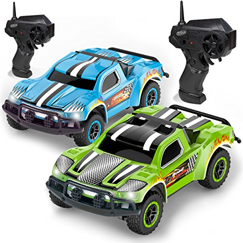 Remote Control Car - 2 Mini Racing Coupe Cars - with Rechargeable...