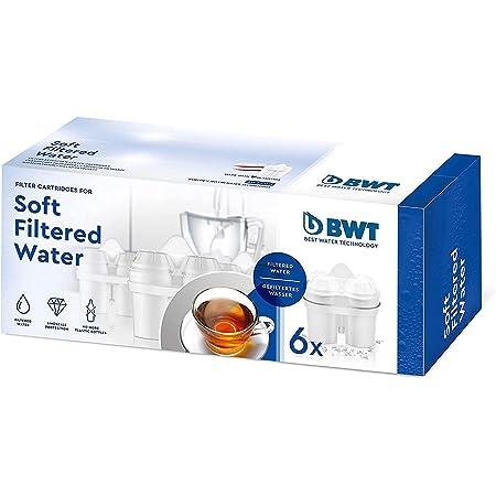 BWT 814561 Soft Filtered Water-Pack économique de 6 aiguilles souples pour pots filtrants, filtres compatibles avec d'autres systèmes de filtration ovales, plastique