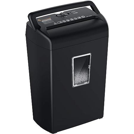 Bonsaii 10-Sheet Cross-Cut Paper Shredder, Credit Card Shredders for Home Office Use, 5.5 Gallons Large Wastebasket with Transparent Window, Black (C209-D)