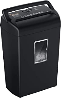 Bonsaii 10-Sheet Cross-Cut Paper Shredder, Credit Card Shredders for Home Office Use, 5.5 Gallons Large Wastebasket with T...