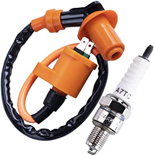 CNCMOTOK High Performance Racing Ignition Coil Electrode Spark Plug for Chinese 50cc 125cc 150cc Gy6 Moped Scooter ATV Go ...