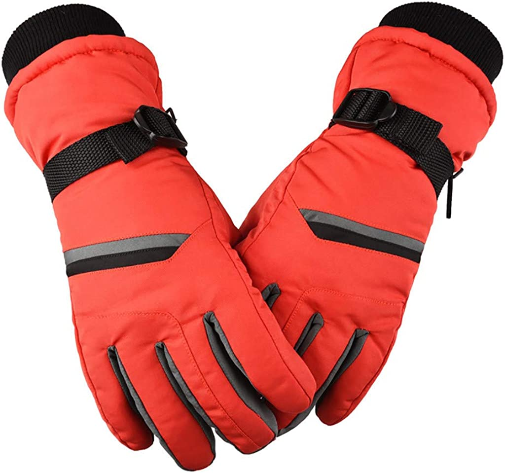 GREFER Cold Weather Gloves for Women, Winter Thicken Warm Mittens for Motorcycle Riding Ski Sports