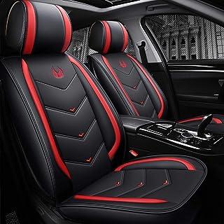 Lot de 9 housses de siège de voiture en cuir pour Mitsubishi L200 ASX Eclipse Cross Outlander Carisma S-Cross (rouge)