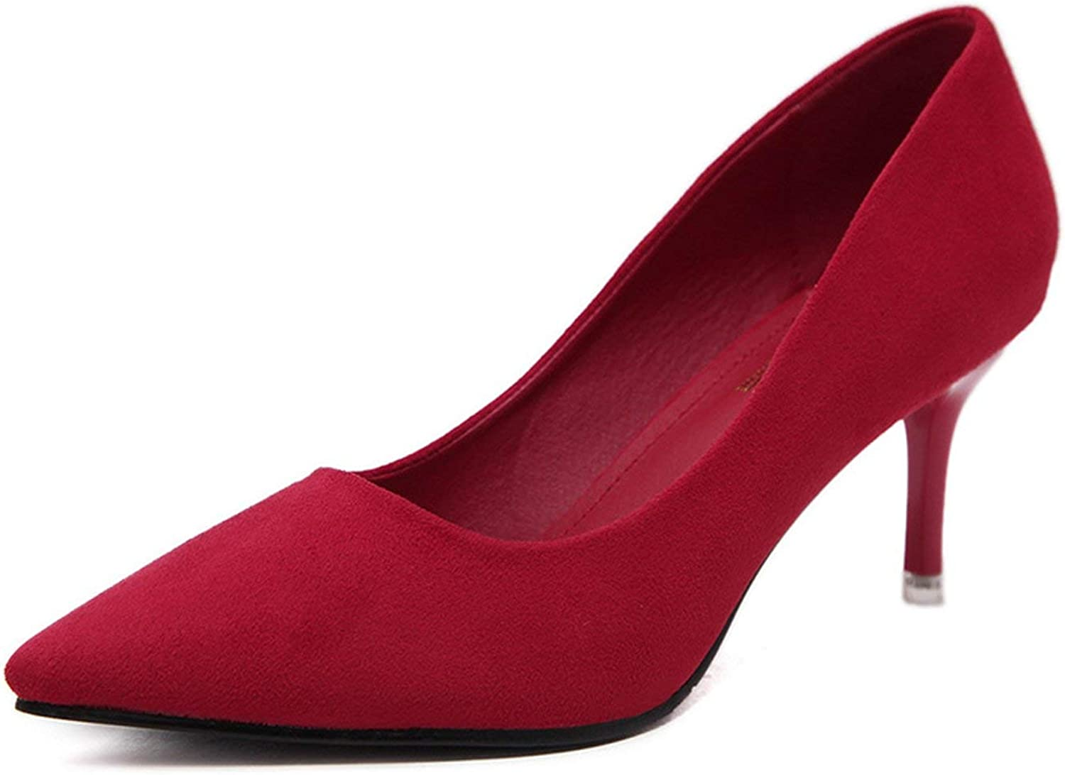 36-41 Thin Heels Spring Career Office shoes Woman Pumps Party OL Suede Women's shoes