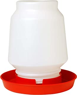 Little Giant 1-Gallon Plastic Poultry Fount Complete Waterer with 750 Red Base