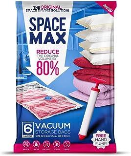 SPACE MAX Sacs de Rangement sous Vide géants de qualité supérieure (80% en Plus de Compression par rapports aux Sacs concu...
