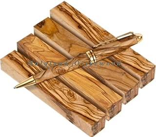 4 -Authentic-Premium Quality Bethlehem Holy Land Olive Wood Pen Blanks