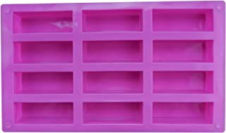 12 Cavities Energy Bar Maker Baking Pan, Protein Bars mold, Silicone Chocolate Mold, for Muffin Brownie, Pu...