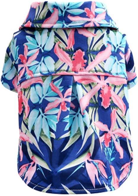 MYYXGS Camisa para Mascotas Ropa para Perros Hawaianos Camisa ...