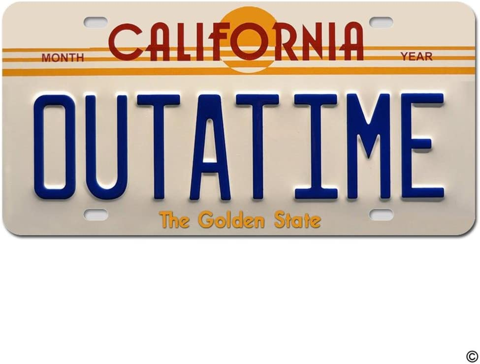 MsMr License Plate Inexpensive 25% OFF Cover Metal Outatime California