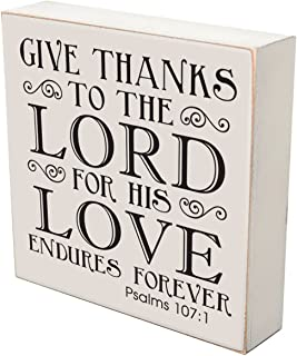 LifeSong Milestones Give Thanks to The Lord for His Love Endures Forever Wedding for Couple, House Warming Gift Ideas for Mr. and Mrs. Shadow Box by 6