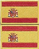 2 x Parche España Parches Velcro España Español Bandera Táctico bandera...