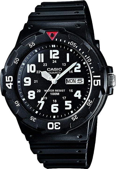 Casio orologio analogico al quarzo uomo con cinturino in resina mrw-200h-1bves