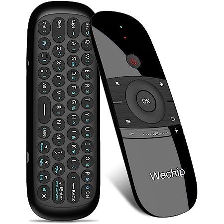 WeChip Mini Air Fly Mouse Remote 2.4G Control de detección de movimiento con teclado para Android TV Box Shield TV