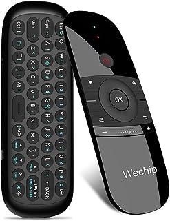 WeChip Mini Air Fly Mouse Télécommande 2.4G Contrôleur de détection de Mouvement avec Clavier pour Android TV Box/PC/TV