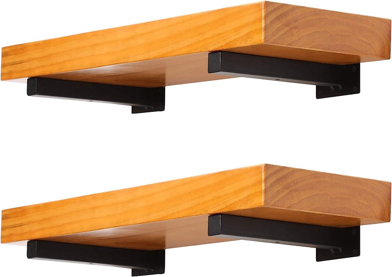 Soportes flotantes para estante de pared de 8 pulgadas, soportes flotantes para estantes de pared o para bricolaje o estantes de pared personalizados, paquete de 4 unidades, color negro