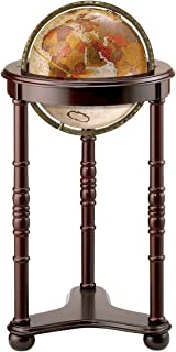Replogle Lancaster—Bronze Metallic, Dark Cherry Wood Finish, Floor Model Globe, Perfect for Anyone Looking for a Elegant Floor Standing Globe That Fits Small Spaces (12