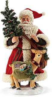 """Department 56 Possible Dreams Santa Claus """"Going Stag"""" Clothtique Christmas Figurine"""