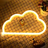 LED Signs Neon Lights for Wall Decor,USB or Battery Decor LED Light,Neon Signs for Bedroom,Decorative LED Neon Light Sign for Bar,Christmas,Home Party,Kids,Girls Living Room (Cloud-Warm White)