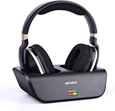 ARTISTE Wireless TV Headphones with Optical for Smart TV, Digital Stereo and 2.4GHz RF Transmitter and Charging Station, 1...