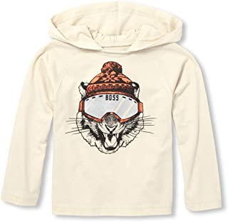 The Children's Place Baby Boys' Hooded Graphic Long Sleeve T-Shirt