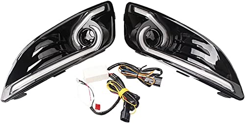 discount Mallofusa 2PCS Daytime Running Light lowest DRL Driving Fog Lamp 2021 W/Turn Signal for Ford Fiesta DRL 2013 2014 2015 sale