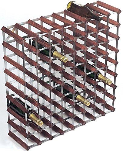 RTA traditionnel en bois Wine Rack Pin naturel/pin foncé pré assemblé et prêt à monter Brown Assembled