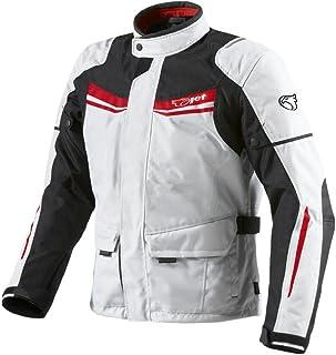 JET Chaqueta Moto Hombre Textil Impermeable con Armadura Aquatex (XL (EU 52-54), Blanco Rojo)