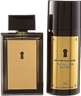Antonio Banderas The Golden Secret for Men 2 Piece Gift Set (3.4 Ounce Eau de Toillete Spray + 5.1 Ounce Deodorant Spray)