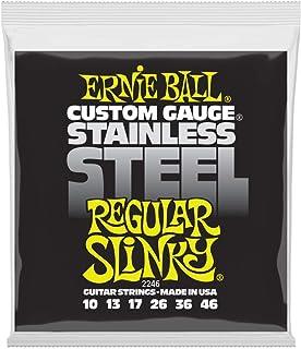 Cuerdas de guitarra eléctrica de cuerda de acero inoxidable Slinky Ernie Ball regular - 10-46 Gauge