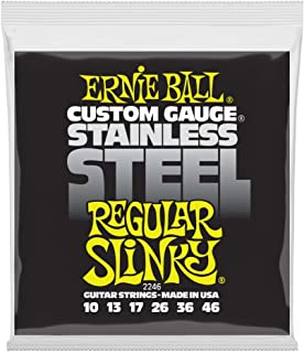 Ernie Ball Stainless Steel Regular Slinky Set, .010 - .046