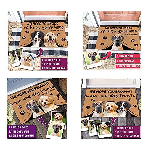 jinfu Personalizados con Foto,felpudos Personalizados,Felpudo Personalizado con Foto,Mascotas,Familia,Felpudo Friends,Felpudo para Puerta,Entrada para Puerta Trasera, Interior, Pasillo (40cmx60cm)