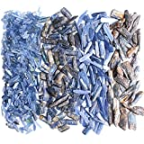 WUBBHIN Cristal áspero 30G / 50G Natural Blue Kyanite Crystal Pulished Gravas Piedra Preciosa cianita áspera Bricolaje Decoración del Acuario del Tanque de Peces del hogar