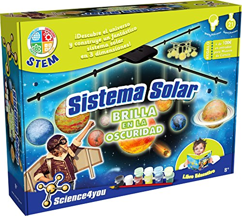 Science4you - sistema solar - brilla en la oscuridad, juguet