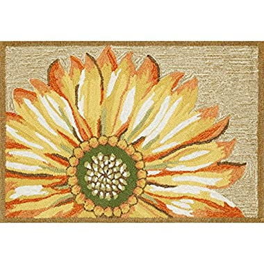 Liora Manne FT123A50209 Whimsy Flowers Rug, Indoor/Outdoor, 24  x 36 , Yellow