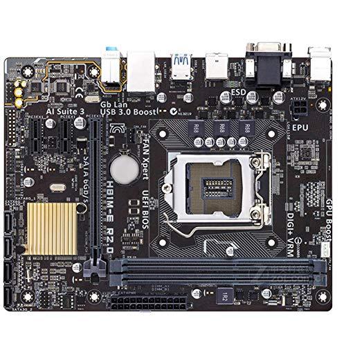 lilili Ajuste para Fit For ASUS H81M-E R2.0 Placa Base De Escritorio H81 Socket LGA 1150 I3 I5 I7 DDR3 16G Micro-ATX UEFI BIOS Página Principal Placa Base