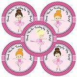 Adorebynat Party Decorations - EU Bailarina de la niña le agradece pegatina etiquetas - fuentes del partido niños Los niños de cumpleaños - Set 30