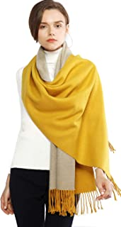 Winter Cashmere Wool Scarf Pashmina Shawl Wrap for Women Long Large Warm Thick Reversible Scarves