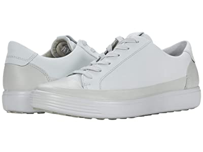 ECCO Soft 7 Monochromatic Sneaker (Concrete/Concrete Cow Leather/Cow Nubuck) Women