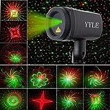 Christmas Projector 24 Patterns Star Lights Shower Effect RF Remote Motion Waterproof IP65 Outdoor Garden Decorative Lamp