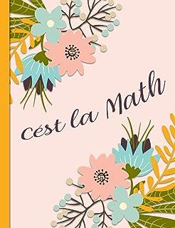 Cest la Math: Graph Paper Composition Notebook with 1/2-inch Grids