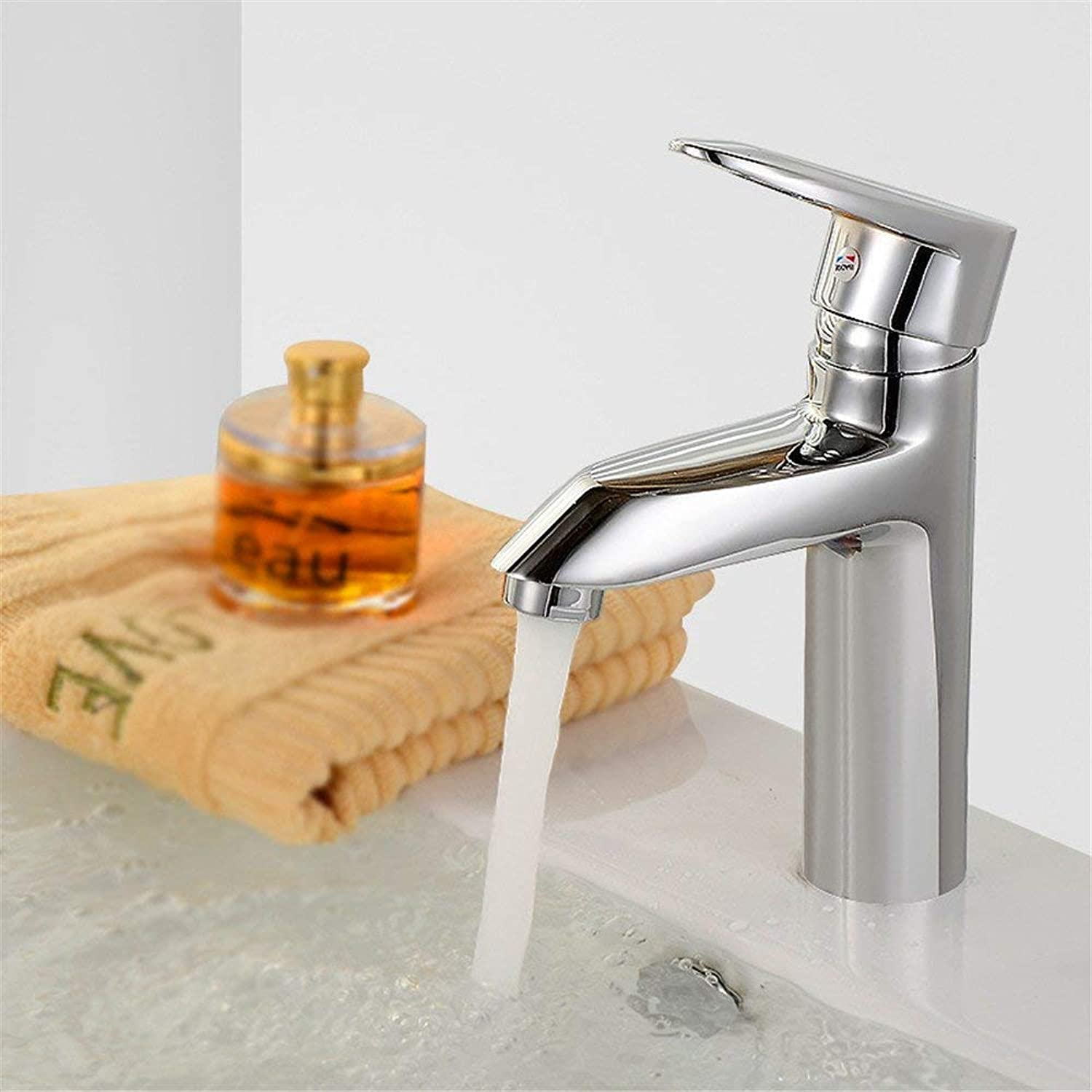Oudan Basin Mixer Tap Bathroom Sink Faucet Basin mixer SINGLE LEVER SINGLE HOLE full copper cold water faucet Washbasin Faucet with high diamond Single Hole