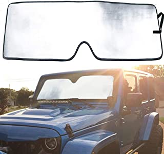 Bentolin Windshield Sunshade Sun Shade for 2007-2017 Jeep Wrangler JK