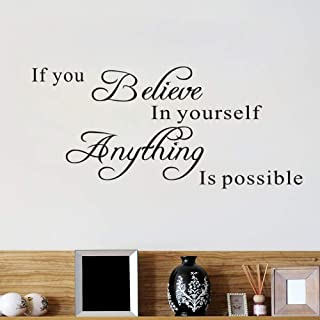 AWSN Inspirational Motivational Lettering Quotes Wall Decor for Women Boys Girls Kids Living Room Bedroom Playroom Wall St...