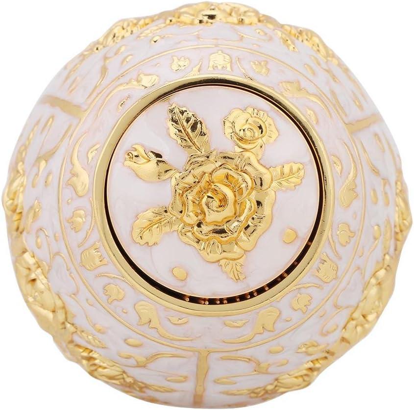 1pc Metal Zinc Alloy Toothpick Holder Flower Pattern Hand Press Toothpick Dispenser Gold