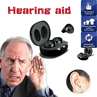 Invisible Hearing Amplifier,Rechargeable Digital Sound Amplifiers, Wireless Adjustable Tone Sound Noise Canceling Voice Am...