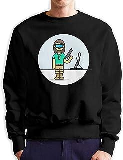Military Clip Art Colored Print Men's 3D Graphic Printed Crew Neck Sweatshirt Pullover Shirt Fashion S-3XL