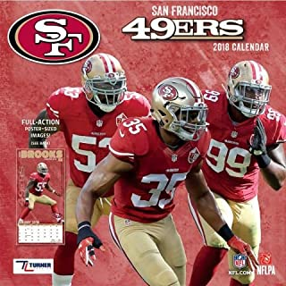 2018 San Francisco 49ers NFL Team Wall Calendar