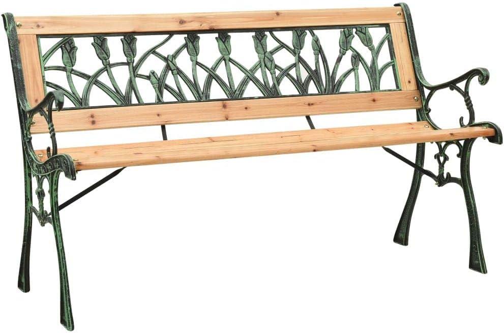 vidaXL Solid Firwood Garden 限定品 Bench Backyard 倉 Balcony Outdoor Patio